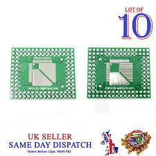 10x PCB QFP TQFP LQFP FQFP 32 44 64 80 100 Pin to DIP Adapter Board Converter