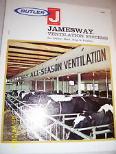 VINTAGE BUTLER MFG ADVERTISING BROCHURE - BARN VENTILATION EQUIPMENT- 1973