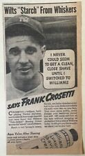 1937 newspaper ad for Williams Shave Cream - Frank Crosetti NYY shortstop