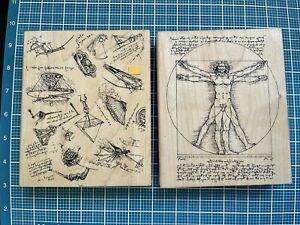 Lot  Wood  Stamps, Rubber Stamps , Wood Mounted Stamps Man Creation