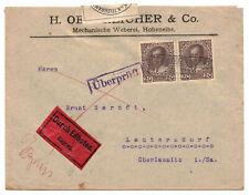Brief 1915 Durch Eilbote Zensur Prag Vignette Überprüft K.u.K. Hohenelbe !  (b7