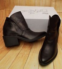 CINZIA ARAIA STAR SLIP ON LEATHER ANKLE BOOTS>BN>GENUINE>£375>5uk>38>SHOES>BLACK