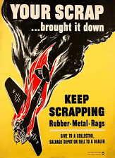 American Poster di propaganda Grande Guerra Mondiale 2 il tuo Rottame