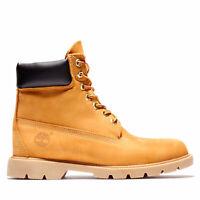 "Timberland 6"" Inch Premium Waterproof Wheat Nubuck Black Boots Winter Snow Men's"