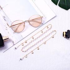 Elegant Pearl Shell Anti-Slip Chain Eyewear Holder Lanyard Necklace Sunglasses