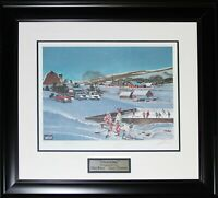 Overtime Limited /2001 Hockey Lithograph Signed Mike Bossy Gerry Cheevers