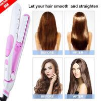 Pro Argan Oil Vapor Ceramic Flat Iron Steam Salon Hair Straightener White 60W BT