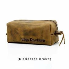 Graduation Gift Personalized Leather Toiletry Bag, Dopp Kit, Leather Shaving Kit