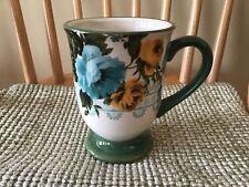 Footed Mug The Pioneer Woman Floral Rose Shadow 16oz Coffee Latte