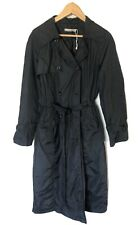 Hammock & Vine Black Trench Coat Windbreaker Size XL Au 16 NEW