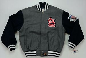 Rare VTG JH DESIGN St. Louis Cardinals Wool Jacket 2000s Jeff Hamilton NWT SZ XL