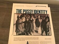 1989 Vintage 3Pg Magazine Print Article On The Rock N Roll Band Pussy Galore