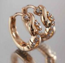 Unbranded Diamond Hoop Rose Gold Filled Fashion Earrings