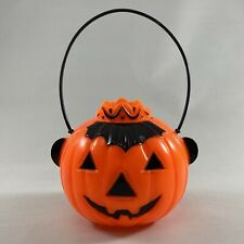 New ListingVintage Halloween Rosen Plastic Queen Crowned Jack-O-Lantern Candy Container