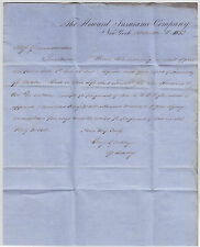 Postal History, Folded Letter Sheet, Howard Insurance Co., preprinted, 1853
