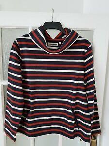 New Seasalt Boslowick Sweatshirt Navy Striped Top  Size 10-20