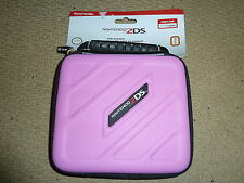 NINTENDO 2DS ORIG OFFICIAL CONSOLE PROTECTIVE ZIP UP CARRY CASE HOLDER Pink NEW