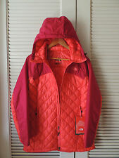 NORTH FACE CERISE PINK THERMOBALL PLUS HOODIE QUILTED JACKET ,  MEDIUM ~NWT