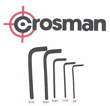 Crosman Hex Key Kit for Air Guns - .050 1/16 5/64 9/64 5/32