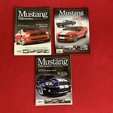 Mustang Milestones 2004, 2006 & 2009 Collector's Editions, Lot Of 3, Great Shape