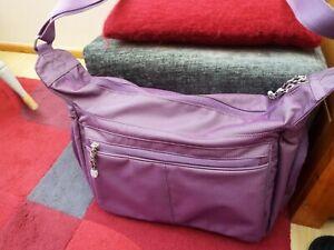 -eBags Kalya Town Square Purple Everyday Shoulder Travel Messenger Yoga Bag