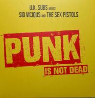 PUNK IS NOT DEAD  by UK SUBS MEETS SID VICIOUS & THE SEX PISTOLS  Vinyl LP  ltd