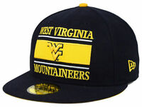 West Virginia Mountaineers NCAA New Era 59FIFTY Fitted Cap Hat - Size: 7 5/8