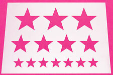 Mylar Stencil Star Craft Home Decor Painting DIY Wall Art Stars 125/190 Micron