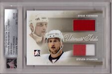 STEVE YZERMAN STEVEN STAMKOS 11/12 ITG Ultimate Idols Jersey # /24 Red Wings SP