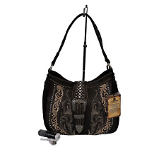 Montana West Embroidery Purse With Power Bank and USB Cable Western Hobo Bag