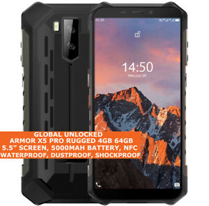 """ULEFONE ARMOR X5 PRO RUGGED 4gb 64gb Waterproof 5.5"""" Face Id Android 10 4g NFC"""