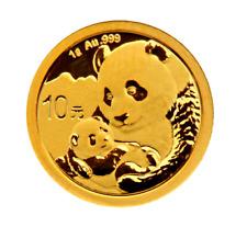 Gold Panda 2019 1 gramos g or china Chinese original veschweißt original Sealed