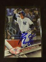 2017 Topps Update Ronald Torreyes Signed Ip Auto New York Yankees US54 Baseball