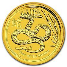 2013 1/10 oz Gold Australian Perth Mint Lunar Year of the Snake Coin -SKU #71324