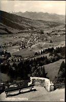 Hindelang Bayern Postkarte ~1940/50 Panorama von Jochstraße Hindelang Oberjoch