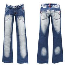 Denim Girls blue jeans w28-gr.36 bootcut pantalones golpe señora Teens chica nº 6