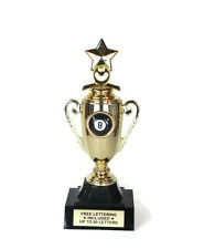 8 Ball Trophy- Billiards- Behind the 8 Ball- Mini Cup Series- Free Lettering