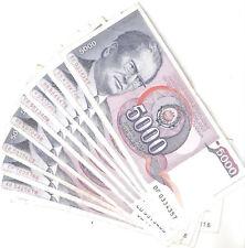 20628) JUGOSLAVIA 5.000 DINARA 1985