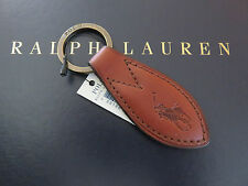 NEW RALPH LAUREN POLO Leather Icon Polo Pony FOB Key Chain Keychain Key Ring