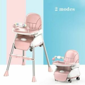 Baby Dining Chair Multifunctional Foldable Portable Deformation Wheelchair Feed