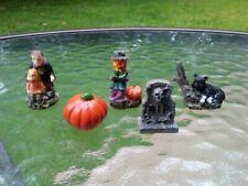 Halloween Village Spooky Gothic Tombstone Vampire Pumpkin Figurines Home Decor