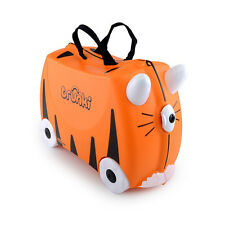 Trunki Tipu Tiger Ride on Hand Luggage Pull Along Suitcase Kids Children 18l