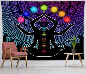 Seven Chakra Tapestry Yoga Meditation Colorful Mandala Wall Hanging Living Room