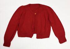 Coprispalle maglione maglia lana artigianale donna usato rosso felpa S T4287