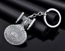 Star Trek USS Enterprise Keychain 2 Inches Silver US Seller