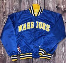 Vintage STARTER NBA GSW Golden State Warriors Satin Jacket Size XL Rare