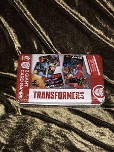 Transformers Giant 4 x 6 Playing Cards by Cardinal 2 Decks Autobots Decepticons