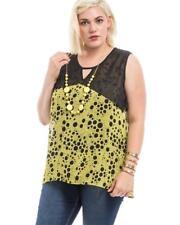 NEW..$15 SALE Stylish Sassy Plus Size Sleeveless Top with Necklace.SZ18/2XL