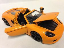 "2005 Porsche Carrera GT, Collectible 8.25"" Diecast 1:24 Scale, Jada Toys, Orange"
