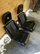 85 FERRARI TESTAROSSA TR LEFT RIGHT BLACK LEATHER SEATS COMPLETE